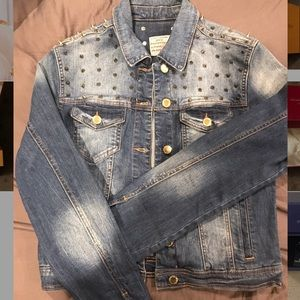 Love Culture Spiked Jeans Jacket